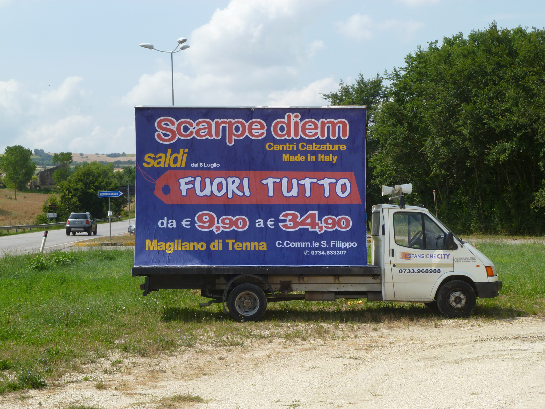 camion vela svendita promozionale Fermo, Marche