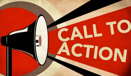 call to action allestimento vetrine
