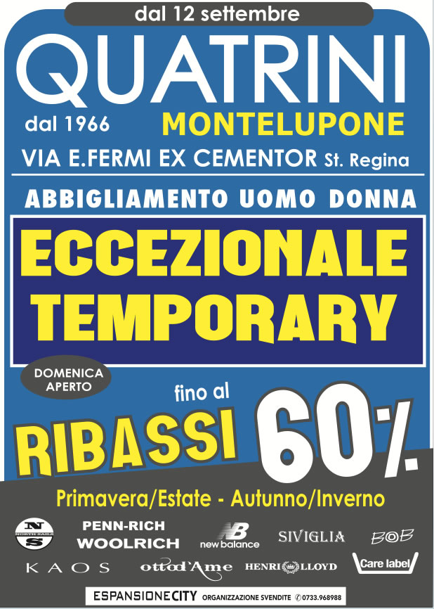 cartelloni Temporary Store